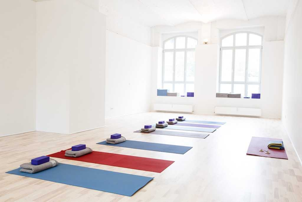 yoga room with mat at yogatribe